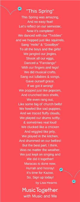 Thank You Poem To Maracas Music Together